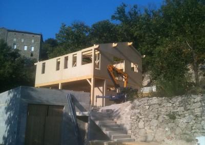 Maison bois dans le Gard
